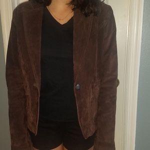 B B Dakota brown leather jacket size large